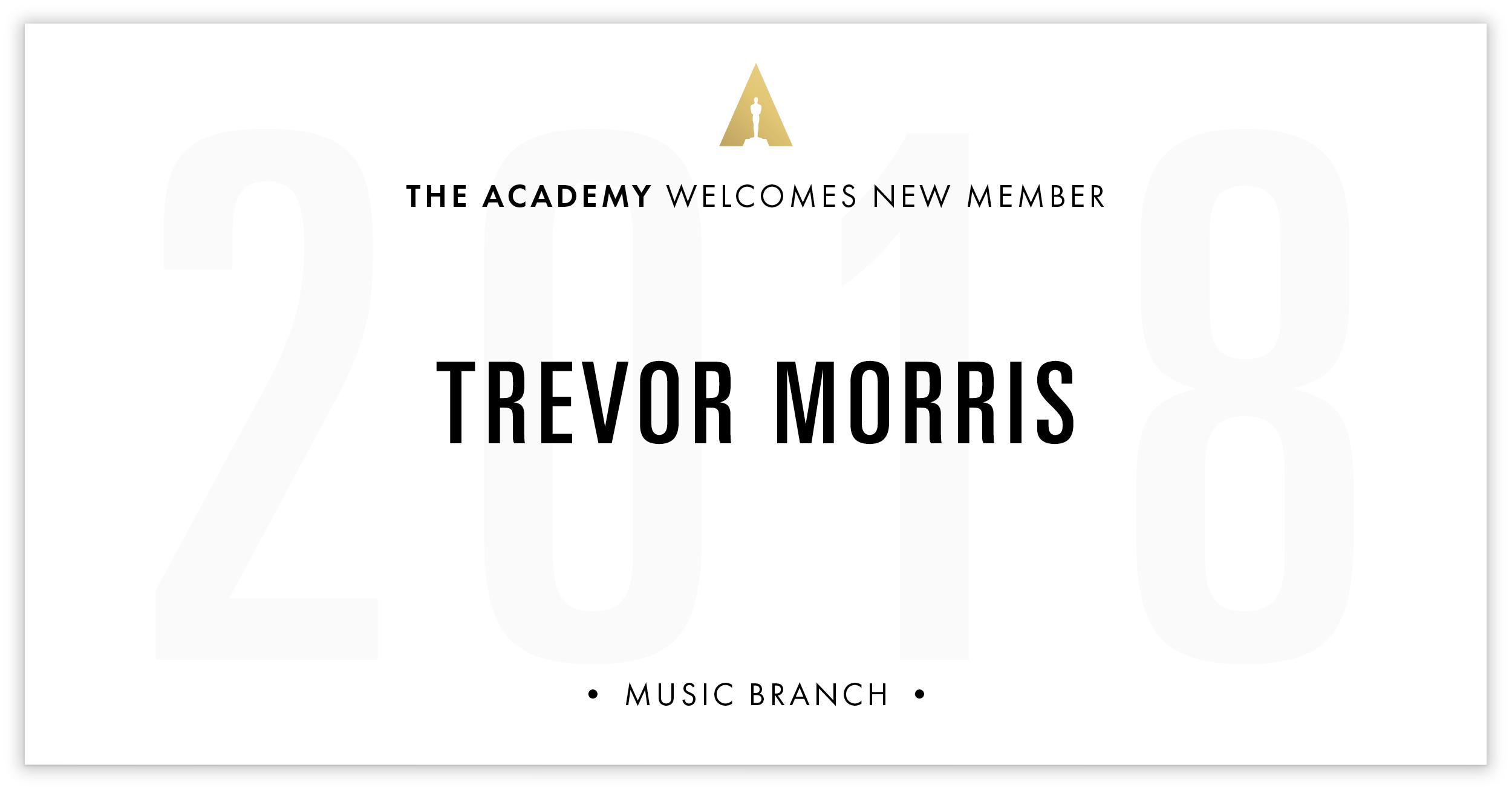 Trevor Morris is invited!