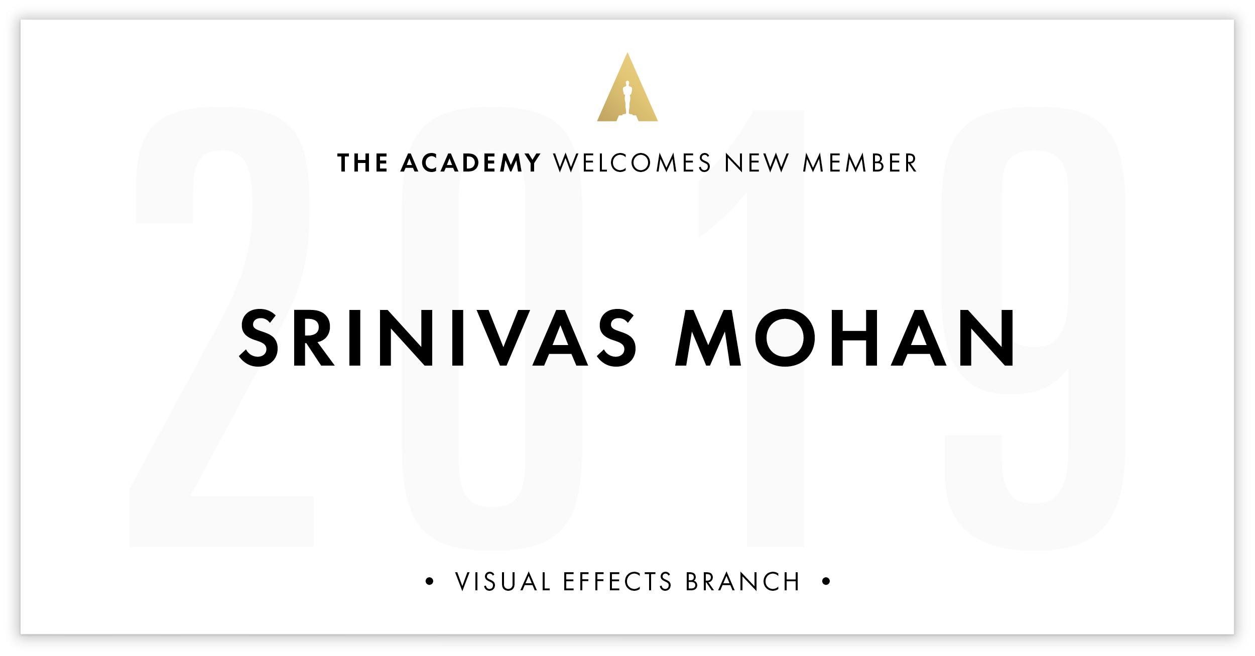 Srinivas Mohan is invited!